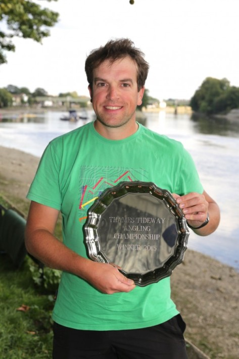 Tidefest Angling Champion 2015 Andriks Lekstutis proudly showing off his winners trophy.