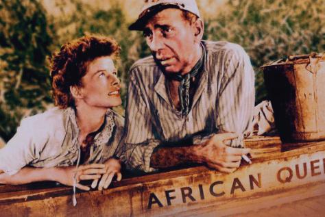 Hepburn and Bogart in the African Queen